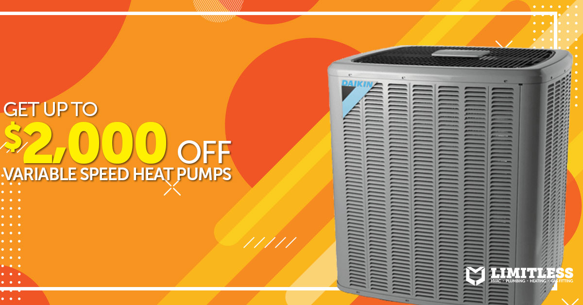 Get up to $2,000 off variable speed heat pumps